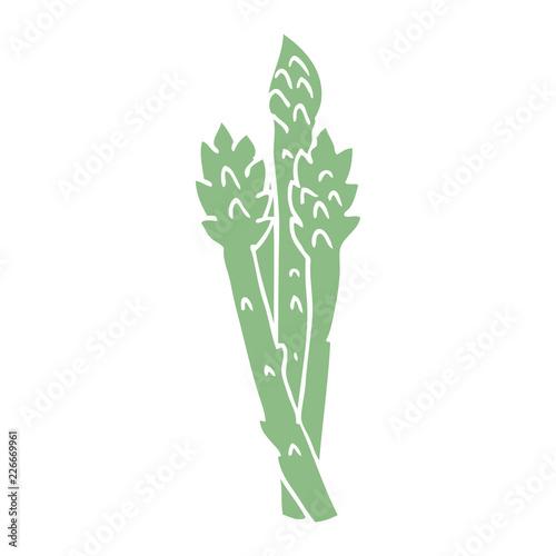 cartoon doodle asparagus plant Wallpaper Mural