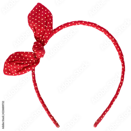 red headband isolated on white background Fototapet