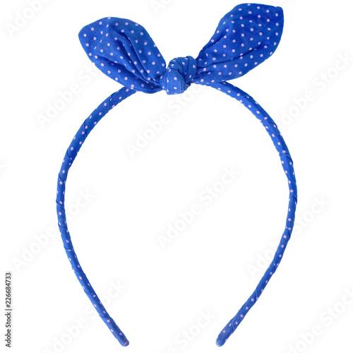 Photographie blue headband isolated on white background