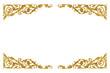 canvas print picture - Ornament elements vintage gold floral for decoration
