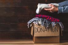 Donation Concept. Donation Box...