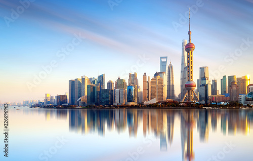Canvas Print Shanghai city skyline