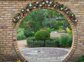 Fototapeta 3D Photo of a decorated arch