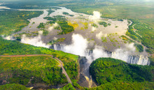 Victoria Falls In Zimbabwe And...