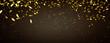 goldkonfetti regen panorama hintergrund
