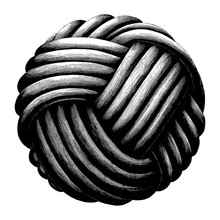 Rope Knot Sphere Hand Draw Vin...