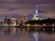 Manhattan at night, View from Hoboken,New York City,USA
