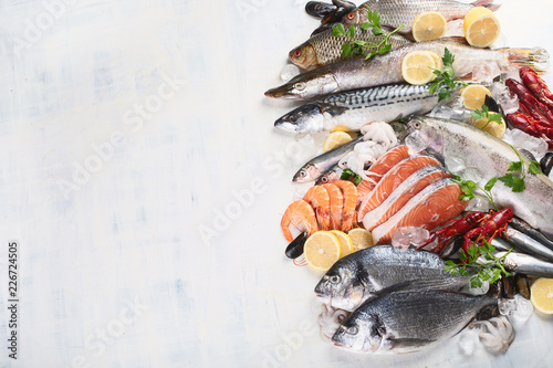 Fresh fish and seafood Slika na platnu