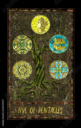 Five of pentacles  Minor Arcana tarot card  The Magic Gate