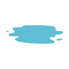 Cartoon Doodle Wet Puddle