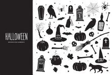 Happy Halloween. Cartoon Set O...
