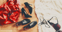 Scattered Clothes And Lovers S...