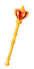 Royal Scepter On A White Backg...
