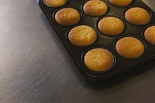 Fresh Cupcakes In A Tray