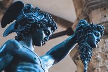 Bronze Statue Of Perseus Holdi...