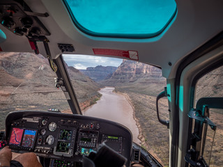 helikopterska kabina u velikom kanjonu