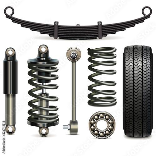 Fotomural Vector Car Suspension Parts