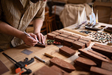 Wood Carpenter's Hands, While ...