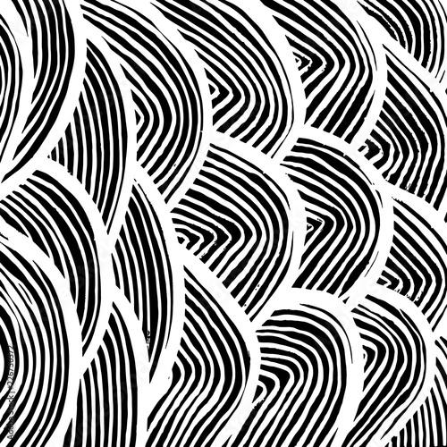 Spoed Foto op Canvas Psychedelic Brush pattern. Grunge background. Vector.