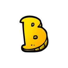 Cartoon Doodle Letter B