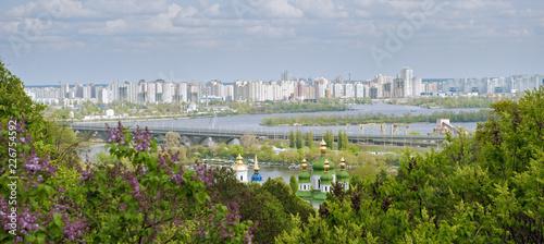 Foto op Plexiglas Kiev View to the left bank of the Kiev city