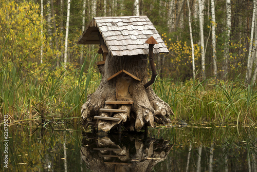 Fotografie, Obraz  Rerm, Russia - Octoder 02, 2018: art object - house of fairy creatures in stump