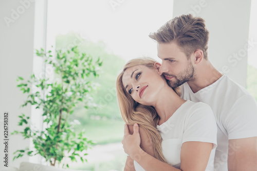 Beautiful attractive sweet charming cute nice adorable couple, s Fototapeta