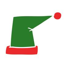 Cartoon Doodle Elf Hat
