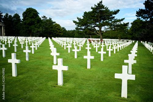 Keuken foto achterwand Begraafplaats Cemetery in Normandy