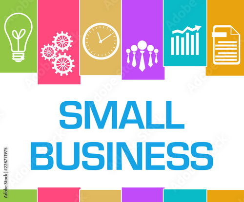 Small Business Colorful Stripes Symbols