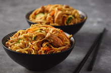 Spicy Asian Noodles With Chick...