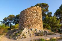 Tossa De Mar Castle Ruins In Costa Brava, Spain