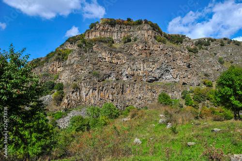 Deurstickers Canyon Dashbashi Canyon and Khrami river in Tsalka region, Georgia