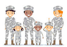 Stickman Family Military Army ...