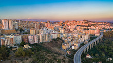 Aerial. Agrigento. A City On The Southern Coast Of Sicily, Italy And Capital Of The Province Of Agrigento. It Is Renowned As The Site Of The Ancient Greek City Of Akragas.