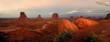 Leinwandbild Motiv Monument Valley Panorama, Arizona, USA