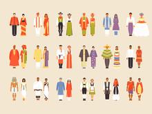 Big Vector Set Of National Costumes, Part 1