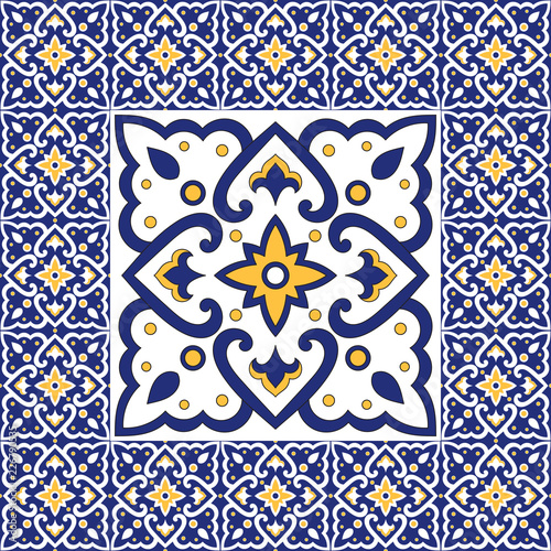 Fototapeta Spanish Tile Pattern Vector