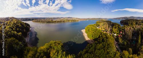 Beautiful panorama of Lake Solina Canvas Print