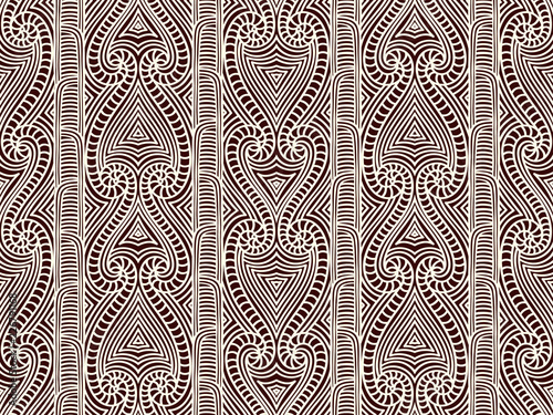 Wallpaper Mural Maori tribal pattern vector seamless