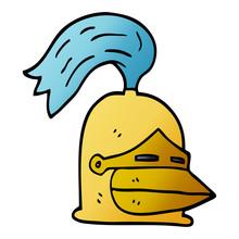 Cartoon Doodle Golden Helmet