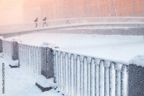Deurstickers Asia land Kolomna bridge over Griboyedov Canal