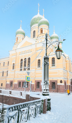 Deurstickers Asia land Saint-Petersburg, Russia. St Isidore Church