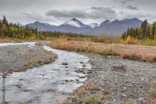River near Haines Junction, Yukon Canada
