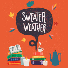 Sweater Weather Hand Lettering And Clipart