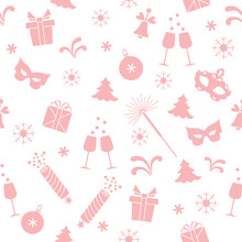 Seamless Pattern With New Year...