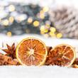 Weihnachten Weihnachtsdeko Weihnachtsdekoration Quadrat Orange Dekoration Winter Schnee