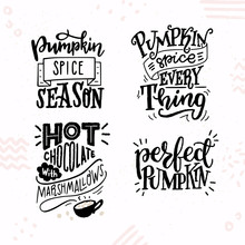 Hand Lettered Quotes About Pumpkins
