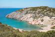 Private bay swimming cove at Greek Mediterranean island, nobody