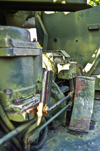 Detail Of Military Howitzer